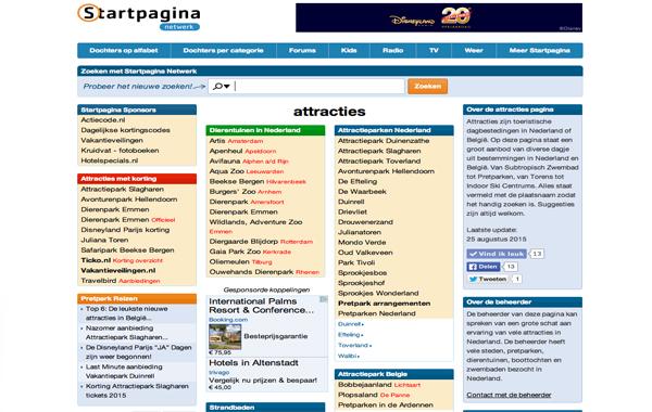 Attracties Startpagina