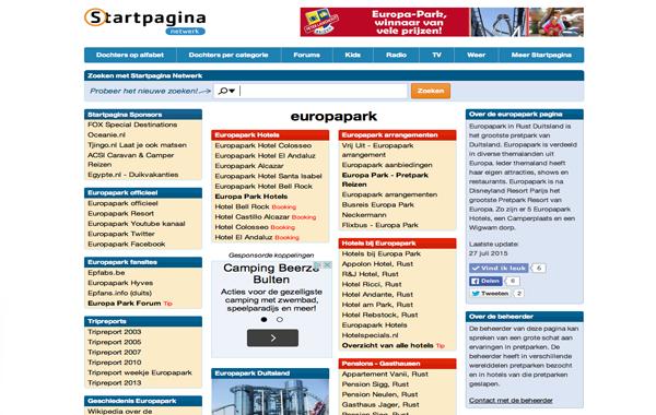 Europapark Startpagina