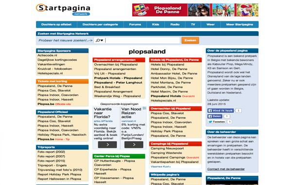 Plopsaland Startpagina
