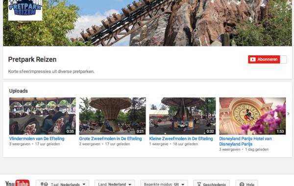 Pretpark Reizen – Youtube
