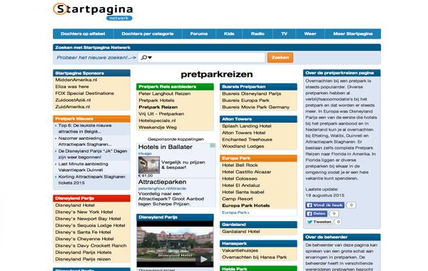 Pretpark Reizen Startpagina