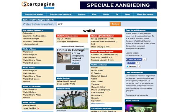 Walibi Startpagina