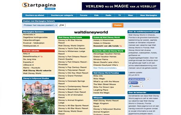 Walt Disney World Startpagina